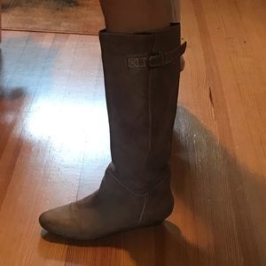 Worn look Leather boots
